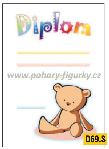 diplom D69.S dětský medvídek