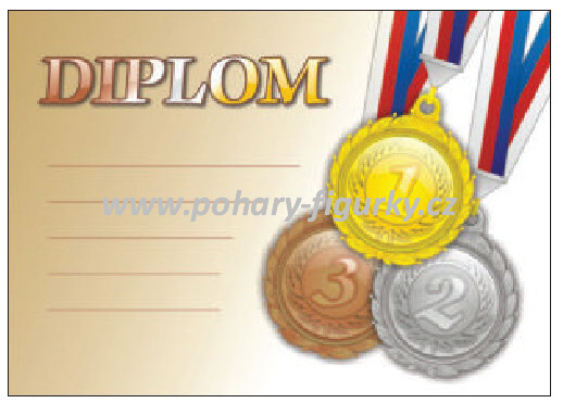diplom D71.S univerzální - medaile