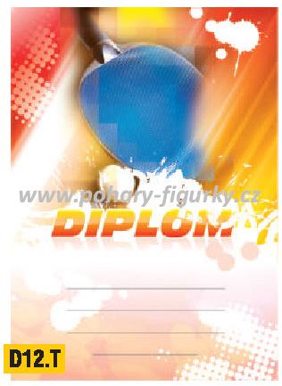 diplom D12.T stolní tenis
