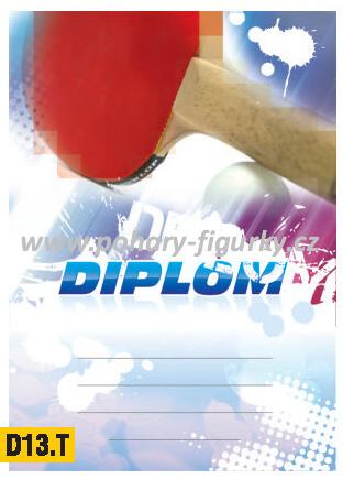diplom D13.T stolní tenis