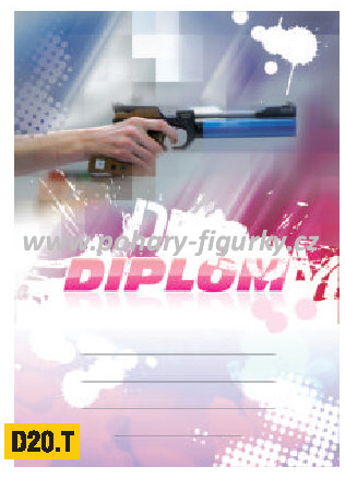 diplom D20.T střelba z pistole