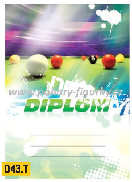 diplom D43.T kulečník (pool)