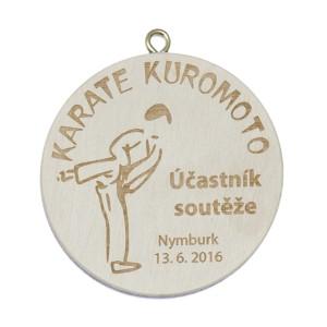 Medaile dřevěná 9139 - průměr 50 mm