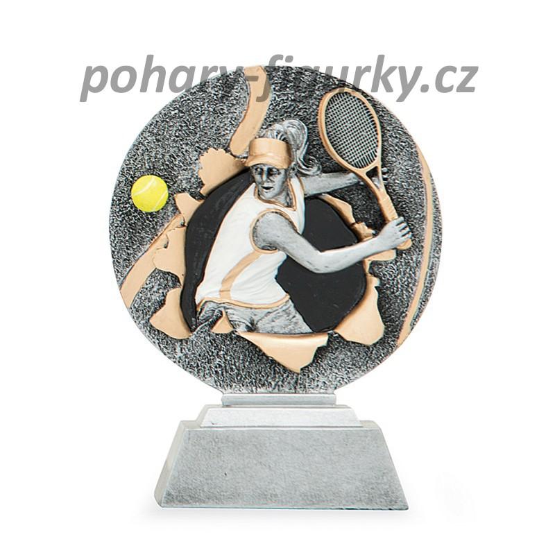 sportovní plaketa tenis ženy FG1155