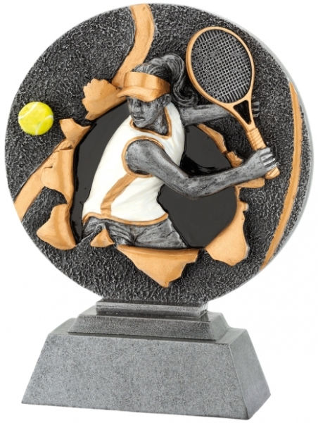sportovní plaketa X1155 - tenis ženy