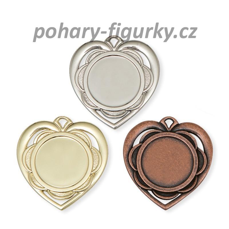 Medaile srdce 9345