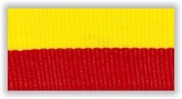 Stuha na medaile s karabinkou - červenožlutá