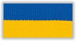 Medaile, stuha, trikolora, modrožlutá,