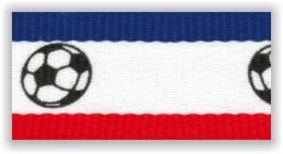 Stuha na medaile s karabinkou - fotbalová