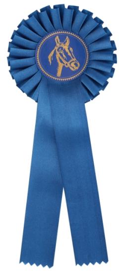 kokarda jednořadá modrá