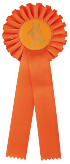 kokarda jednořadá oranžová