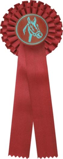 kokarda dvouřadá červená