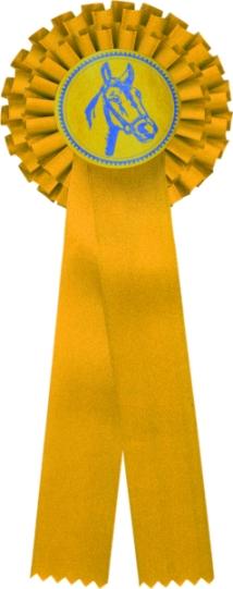 kokarda dvouřadá žlutá
