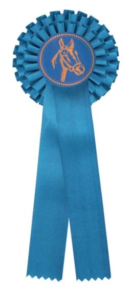 kokarda dvouřadá modrá