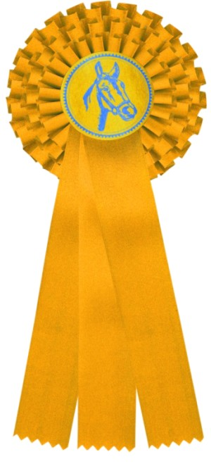 kokarda třířadá žlutá