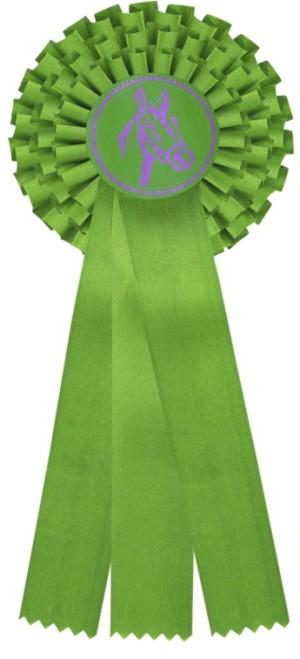 kokarda třířadá zelená