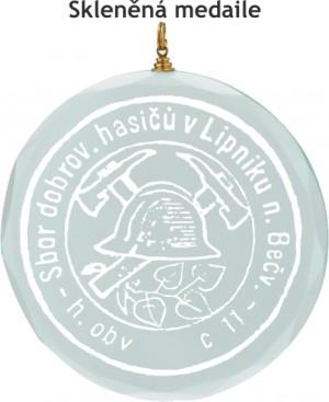 Skleněná medaile MD36