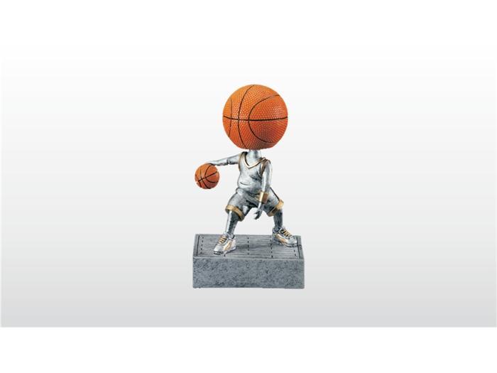 Soška pro basketbalisty s míčem místo hlavy na pérku